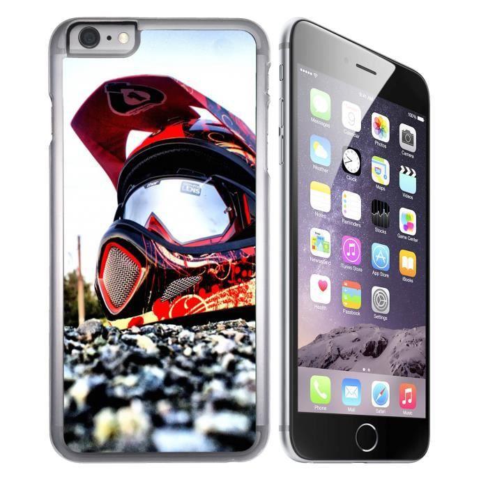 Coque iPhone 6 - 6S Casque Cross Moto