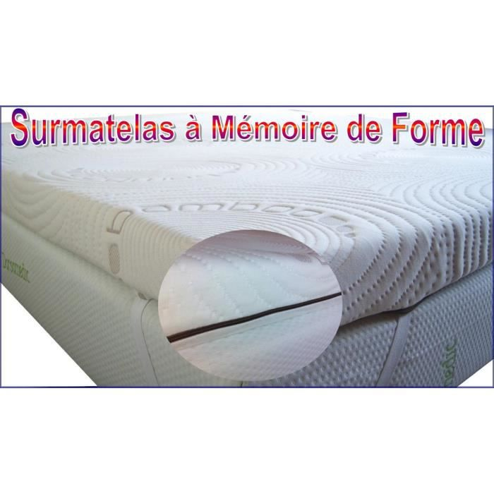 surmatelas m moire de forme 90x190 contre les douleurs lombaires et sciatique achat vente. Black Bedroom Furniture Sets. Home Design Ideas