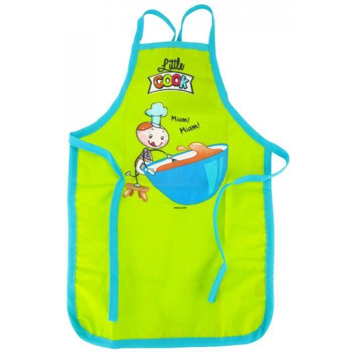 Tablier Cuisine Peinture Pour Enfant 2 6 Ans Vert Achat