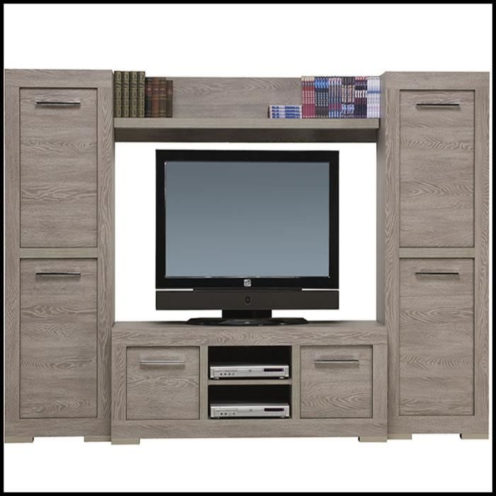 ensemble meuble tv couleur bois contemporain ornella achat vente living meuble tv ensemble. Black Bedroom Furniture Sets. Home Design Ideas