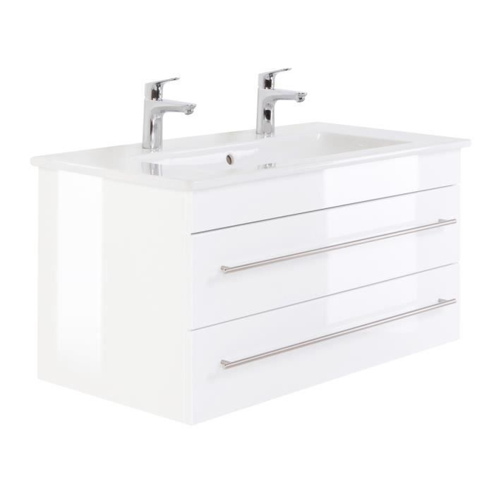 villeroy boch venticello 100 cm double vasque blanc brillant achat vente salle de bain. Black Bedroom Furniture Sets. Home Design Ideas