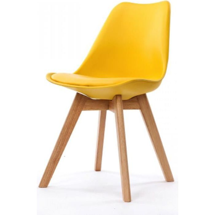 chaise chaise design scandinave jaune scandy - Chaise Jaune Scandinave