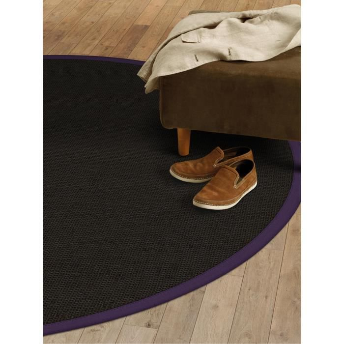 benuta tapis sisal mauve 200 cm rond achat vente tapis cdiscount. Black Bedroom Furniture Sets. Home Design Ideas