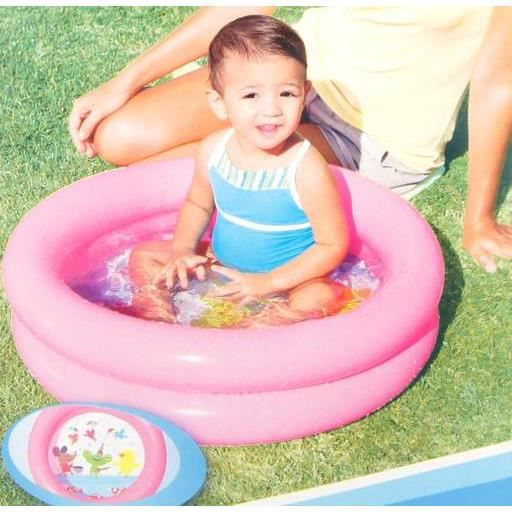 Piscine gonflable 2 boudins 61cmx15cm rose achat for Piscine gonflable 2 boudins