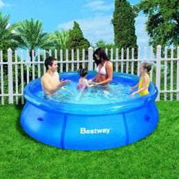 Bestway piscine ronde fast set pools m achat for Piscine tubulaire bestway