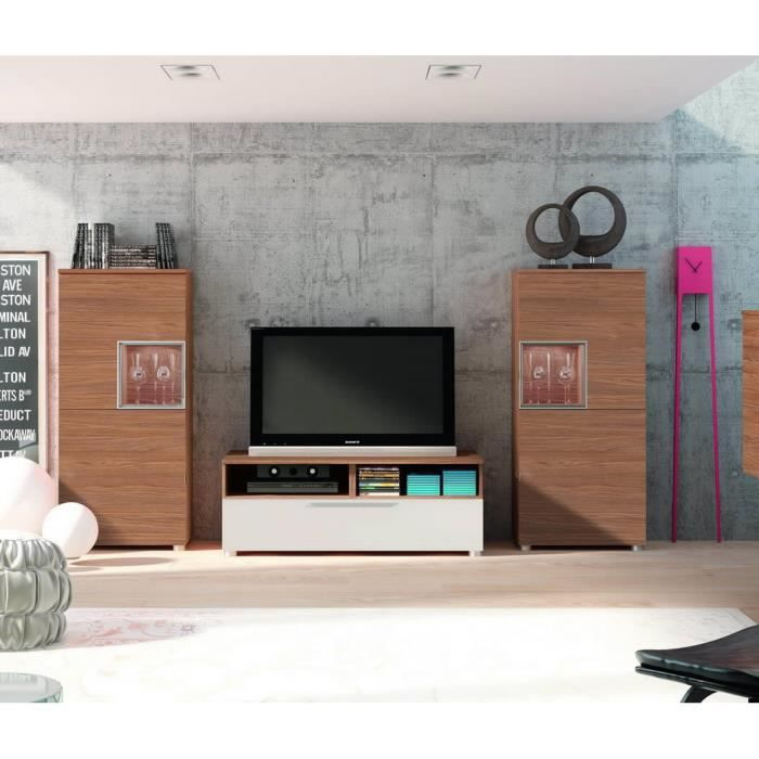 Meubles bas 2p 1cube meuble tv 1t finition no achat for Finition meuble