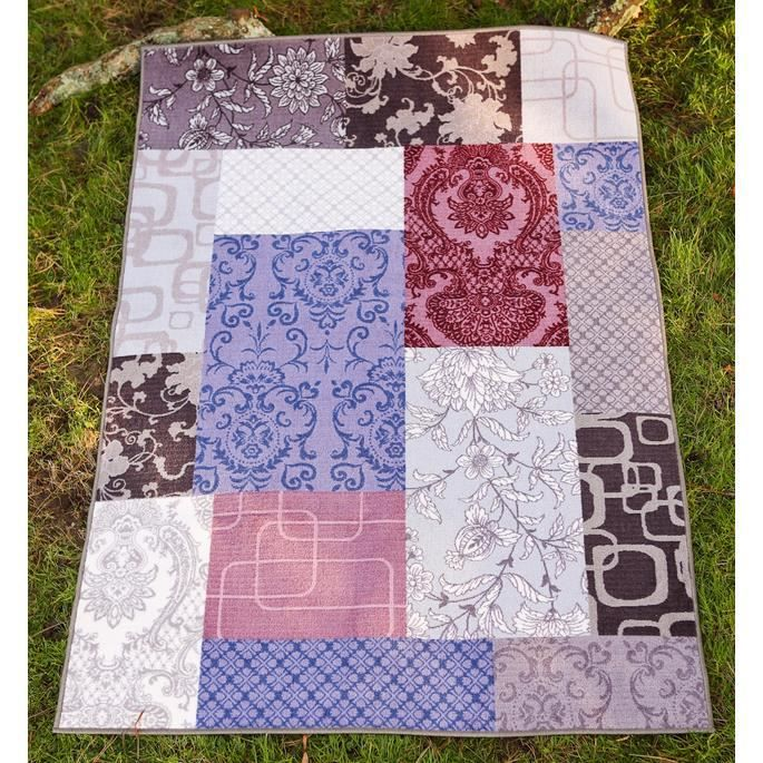 Tapis Moderne Isparta Patchwork Violet 170x230 Achat Vente Tapis Cdiscount