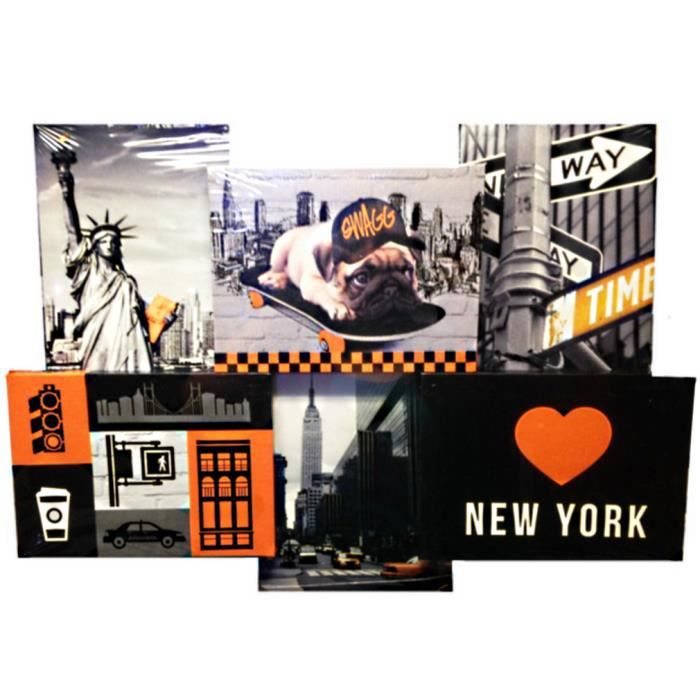 1 tableau new york 49 x 33 cm statue de la liverte taxi for Deco murale new york