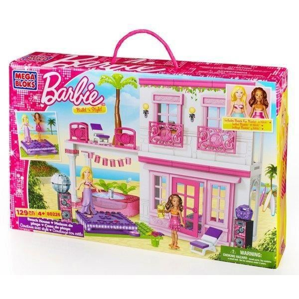 mega bloks barbie la maison de la plage achat vente maison poupee soldes d t cdiscount. Black Bedroom Furniture Sets. Home Design Ideas