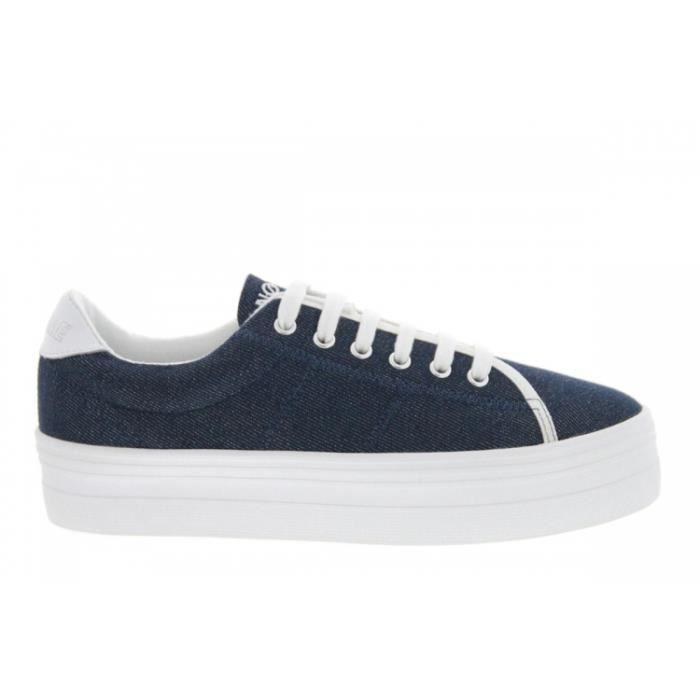 BASKET Baskets mode - No Name Plato Sneaker Strass (Bleu)