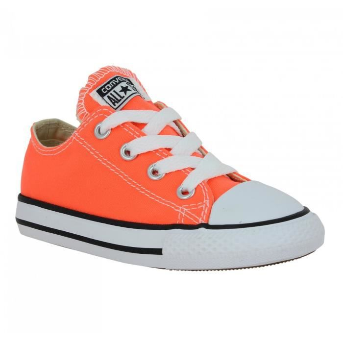 converse enfant orange