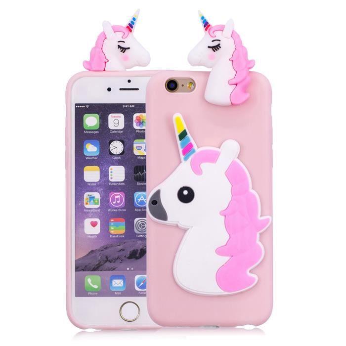 Coque Pour Apple iPhone 6 6S 4.7, Licorne rose clair Motif très ...
