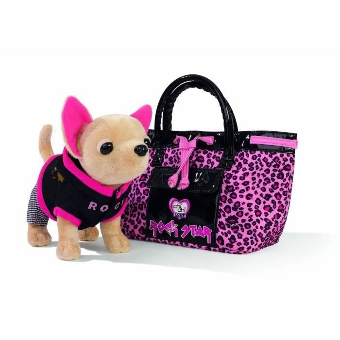 chichi love peluche chien rock star sac achat vente. Black Bedroom Furniture Sets. Home Design Ideas