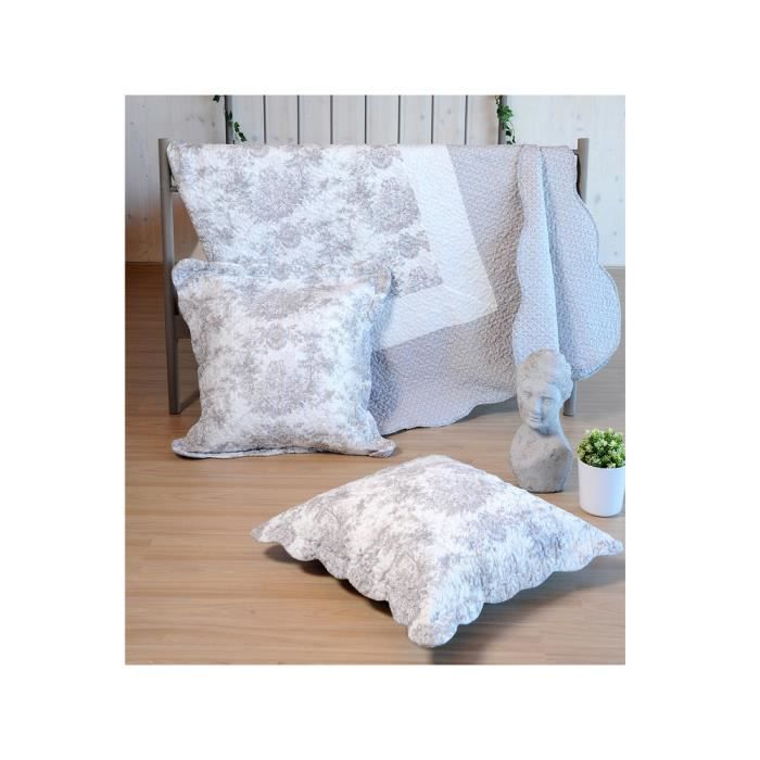 linge de lit toile de jouy achat vente pas cher. Black Bedroom Furniture Sets. Home Design Ideas