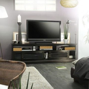 meuble tv en acajou 180 coline achat vente meuble tv. Black Bedroom Furniture Sets. Home Design Ideas
