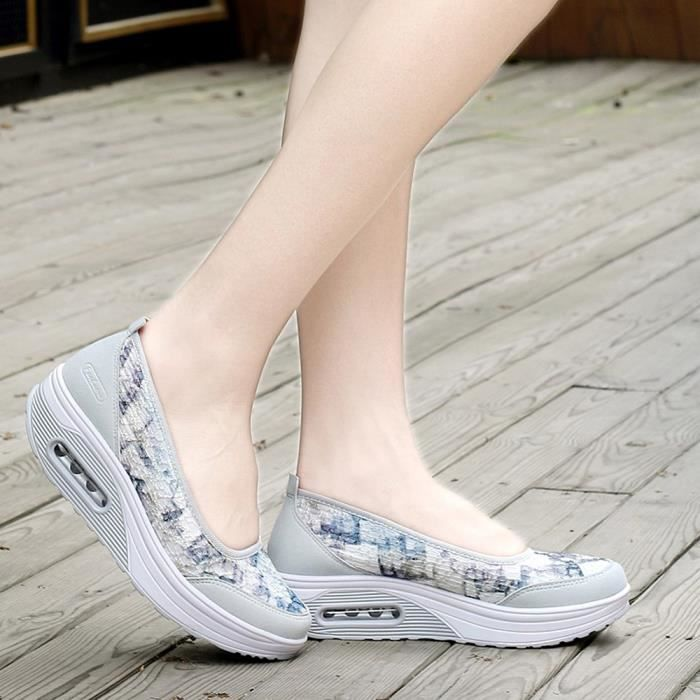 Leisure Net Reservece Cushion Sport Femmes Surface Sneakers Gris Shake Shoes Air Slip wStzqE4S