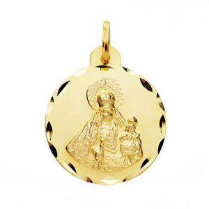 PENDENTIF VENDU SEUL Médaille pendentif Or 18 carats Vierge Rosario 22m