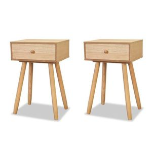 chevet chevets table de chevet 2 pcs bois de pin massif