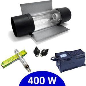 Eclairage horticole Kit lampe 400W HPS Agrolite + Agrolite class 2 + C