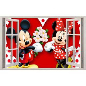 STICKERS Stickers fenêtre Mickey Minie réf 11129 (40x25cm)