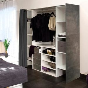 meuble colonne dressing achat vente meuble colonne dressing pas cher cdiscount. Black Bedroom Furniture Sets. Home Design Ideas