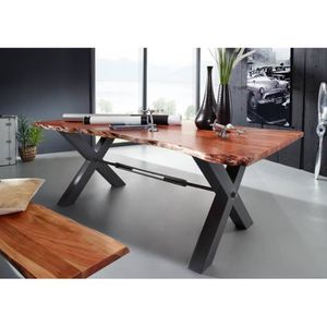 TABLE À MANGER SEULE Table à manger 180x100cm - Fer et Bois massif d'ac