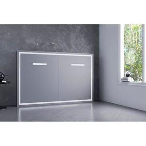 LIT ESCAMOTABLE JOY-Armoire lit escamotable horizontale-160x190-pi