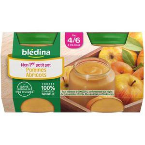 DESSERT FRUITS BÉBÉ BLEDINA Petits pots Purée de fruits Pomme abricots