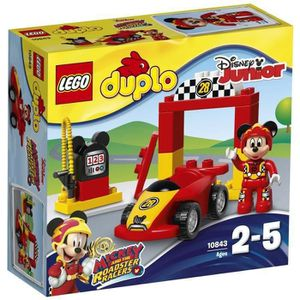 ASSEMBLAGE CONSTRUCTION LEGO® DUPLO 10843 La Voiture de Course de Mickey