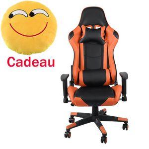 CHAISE DE BUREAU Fauteuil gamer Chaise gaming hauteur réglable,135