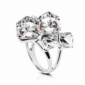 2017 Nouveau 925 silver filled blanc Saphir Pierre de Naissance Fiançailles Anneau Mariage