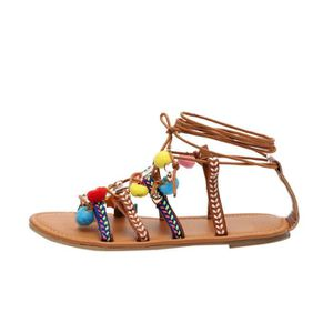 TONG Femmes Summer Lady Sandals Chaussures plates douce