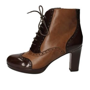 Chaussures Femme Bottine Ad567 Cuir Marron Calpierre xWrCoedB