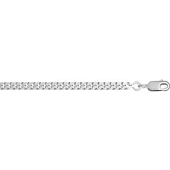 CHAINE ARGENT maille gourmette Moyenne 70 cm neuf