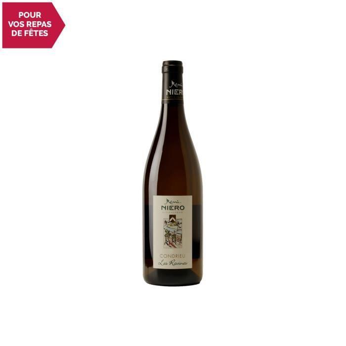 Condrieu Les Ravines Blanc 2019 - 75cl - Rémi Niero - Vin AOC Blanc de la Vallée du Rhône - Cépage Viognier