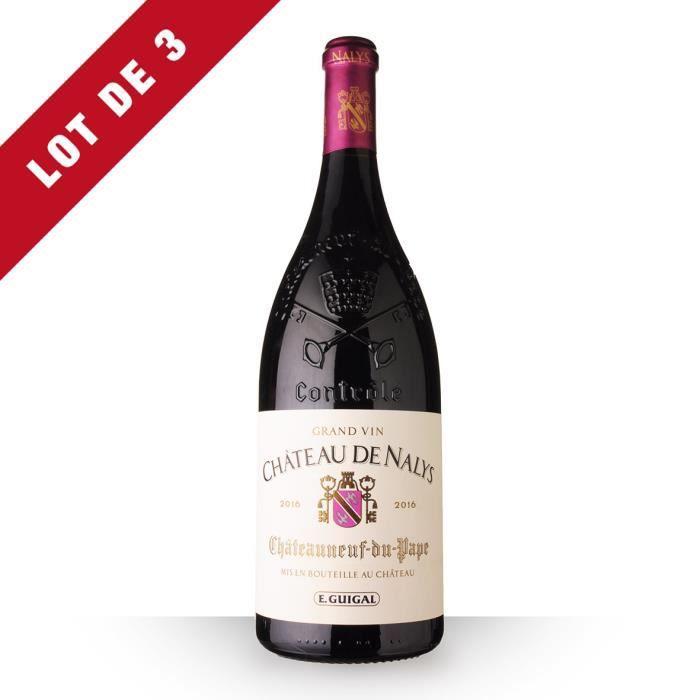 Lot de 3 - Magnum Château de Nalys 2016 AOC Châteauneuf-du-Pape - 3x150cl - Vin Rouge