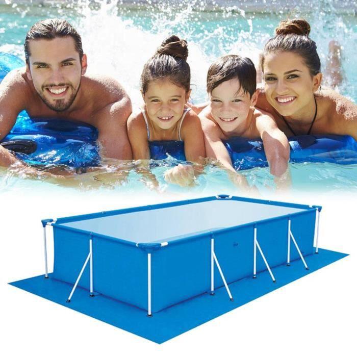 Tapis de sol Flowclear pour piscine rectangulaire Splash Frame, 4,45 m x 2,44 m