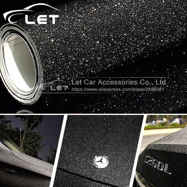 Voiture style noir paillettes diamant brillant vinyle Films enveloppement pour carrosserie voiture autocollant Auto déco LX7719