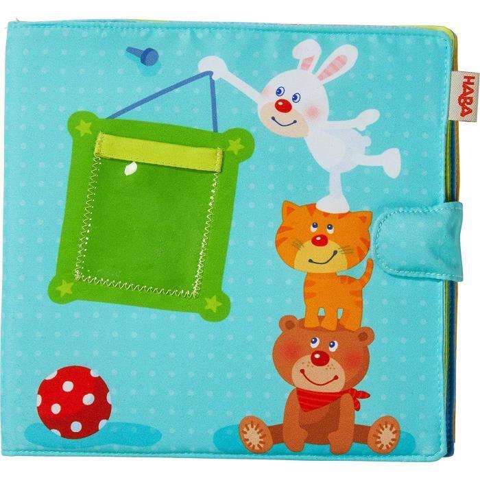Décoration de la maison HABA Album photo bébé Compagnons de Jeu - Album tissu 10 pages - Pochettes pour 8 photos au form 12545