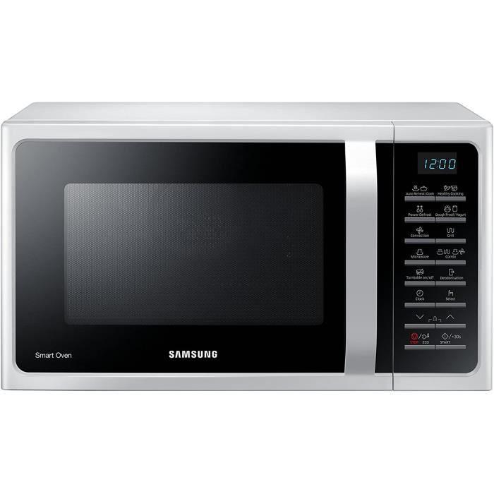 Samsung MC28H5015AW Four à micro-ondes combiné 28 litres, SmartOven, 900 W, 1500 W, blanc, 51,7 x 47,6 x 31 cm
