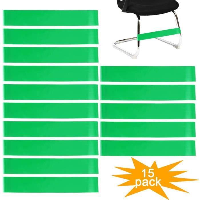 lot de 15 bandes élastiques pour pieds de chaises de salle de classe et de bureau