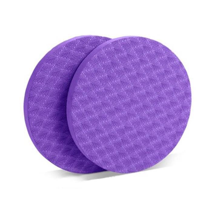Tapis de sol,Genouillères de Yoga TPE antidérapantes, 2 pièces, tapis de protection pour le poignet et le coude, pour-Type violet -A