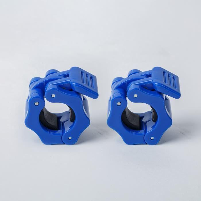 Paire de pinces à haltères serrure à dégagement rapide 1 pouce de diamètre barres de poids standard plaques de collier-a