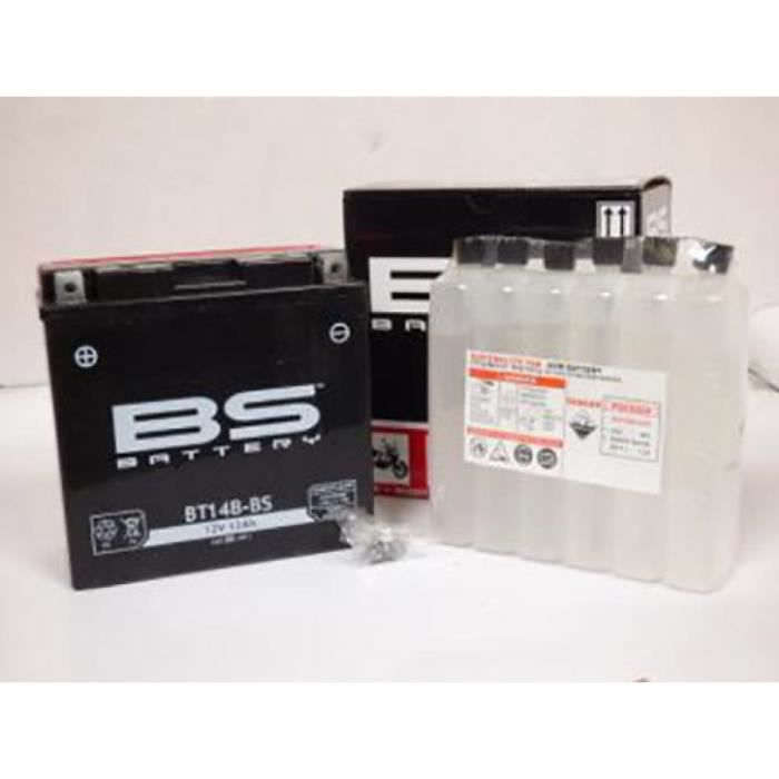 Batterie BS Batterie moto Yamaha 1000 Fazer 2001 - 2005 YT14B-BS