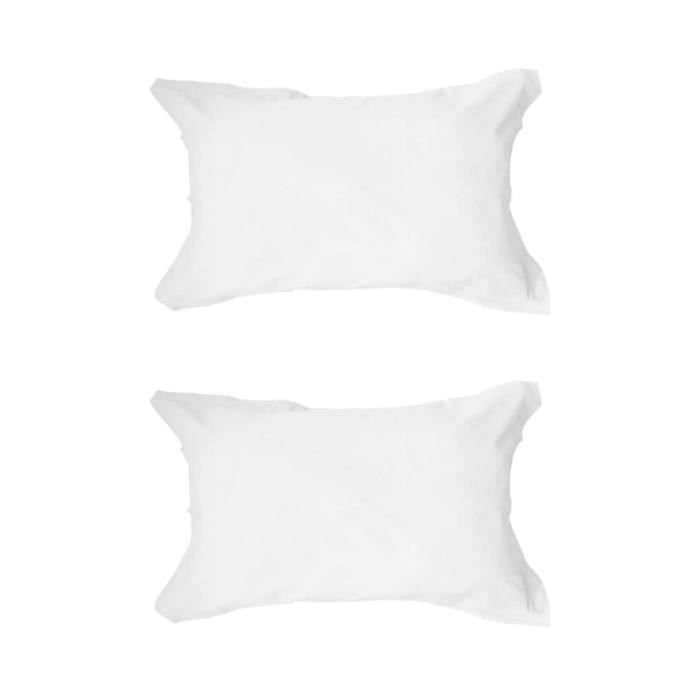 TODAY Lot de 2 taies d'oreiller - 50x70 cm - 100% Coton - Chantilly