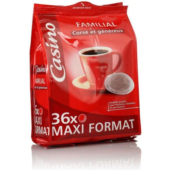 Dosettes café corsé et généreux - 250 g x36