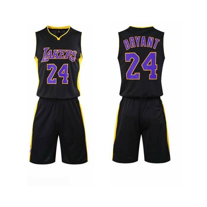 NBA Los Angeles Lakers Star Kobe Bryant Maillot et Shorts de basketball Homme - Noir