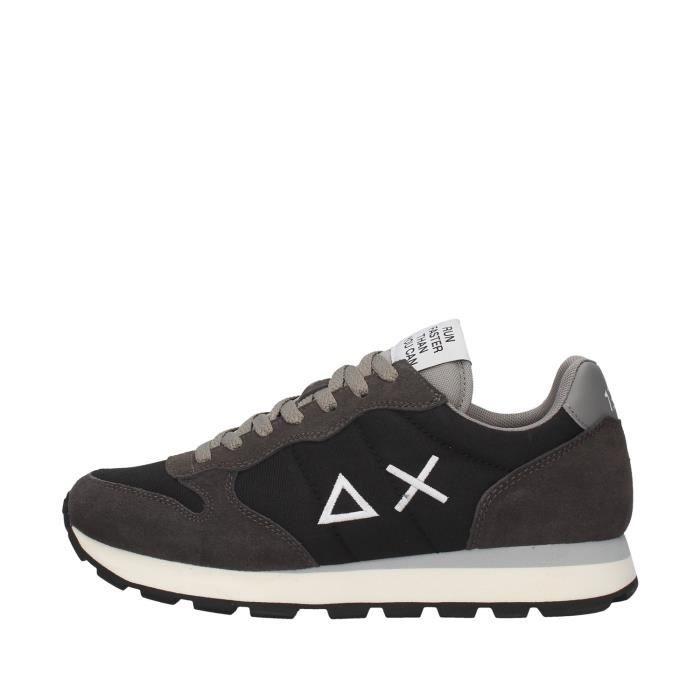 Sun68 Z40101 chaussures de tennis faible homme NOIR