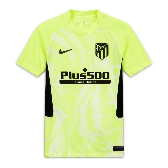 Maillot junior third Atlético Madrid 2020/2021 - jaune volt/noir - 12/13 ans