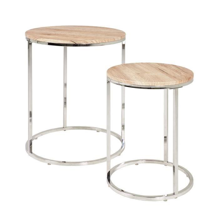 Lot de 2 Tables Rohfe chêne de San Remo